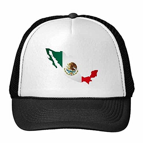 DIYthinker Grün Mexiko Karte Emblem Eagle-Essen Schlange Trucker-Mütze Baseballkappe Nylon kühlen Hut justierbare Kappe Kinder Red Netz
