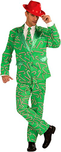 Candy Cane Adult Costume Business Suit Standard