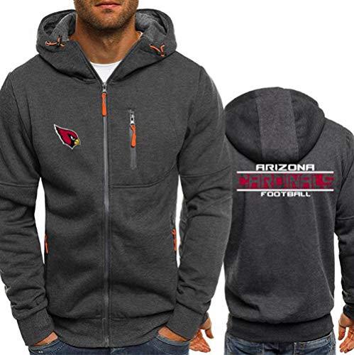 Hoodie NFL Football Jersey Arizona Cardinals Langarm-Zipper Sweatshirts Männer Herbst Jersey High Neck Hoodie Long Sleeve T-Shirt Pullover,XXXL