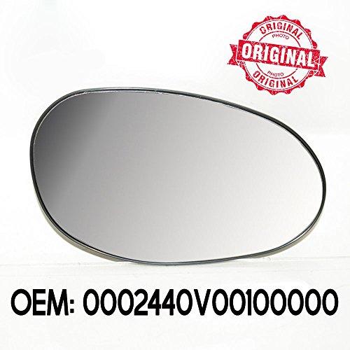 07=/> Miroir glace de rétroviseur remplacement droite Fiat 500