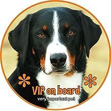 Aufkleber - Appenzeller Sennenhund - garantiert wetterfest - Top Qualität, Ø 10 cm