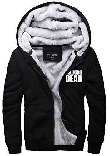 Daryl Dixon Cosplay Kostüm - Herren Winter Hoodie Jacke Plus dicke Samt Pullover Warmhalten Mantel Kapuzenjacke