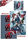 Renforcé Bettwäsche Age of Ultron 135x200cm 2 tlg. Marvel Avengers Global Labels