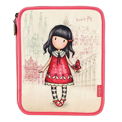 Gorjuss cityscape time to fly double filled pencil case