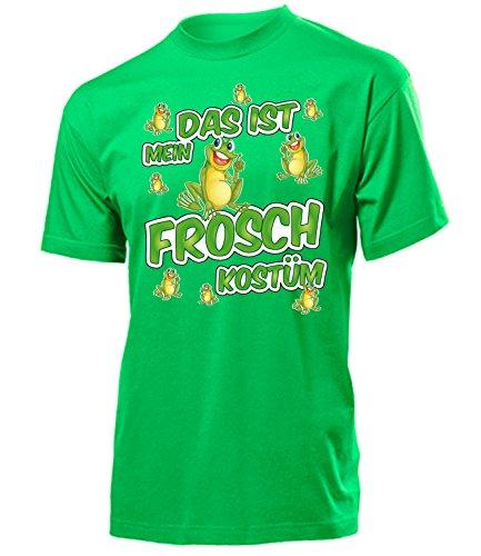 Frosch Kostüm Herren T-Shirt Froschkostüm Männer 1703 Karneval Fasching Faschingskostüm Karnevalskostüm Tier Paarkostüm Gruppenkostüm Grün XL