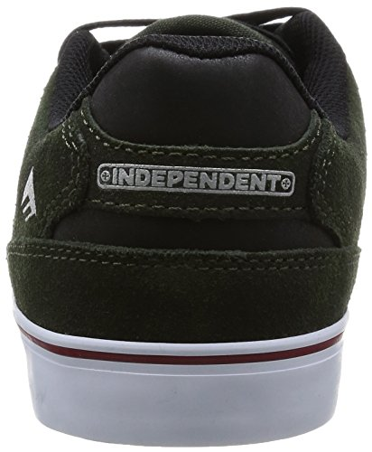 Emerica The Reynolds Low Vulc, Chaussures de skateboard homme Vert (Dark Green 316)