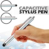 High-Sensitive, Prime Quality Stylus Touch Pen for iPad 1, 2 - iPhone 4 - HTC - Pc Tablets - Asus Tablets - Advent Tablets (Comfortable Hand Grip - User Friendly) - Silver