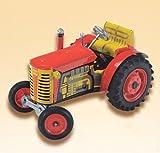 Tracteur rouge Zetor véritable moteur miniature 3 vitesses Jouet mécanique
