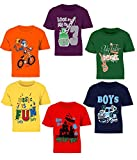 #9: Kiddeo Kids Boys t Shirts(New 01) (Pack of 6)