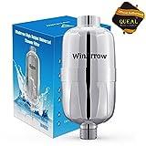 WinArrow 5 etapas reemplazables de alto rendimiento universal de largo tamaño ducha filtro Purificador de agua profunda Deje que su cabello y la piel más sana cinta de teflón libre - cromo
