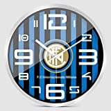 Inter Milan Football Horloge Murale, Chambre à Coucher Creative Fashion Silent Quartz Watch (12inch, 14inch) (Couleur : C, Taille : 12inch)