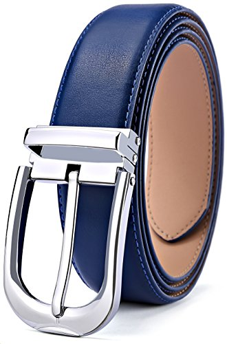 BULLIANT Hombre Cinturón, Cuero Cinturón De Hombre Para hombre Vestido&Jeans 34MM,Tamaño Ajuste