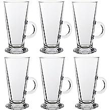 Grande Cristal Transparente Latte Taza Taza de café para té * Compatible con NESPRESSO o de Tassimo y Dolce * 15cm de altura, vidrio
