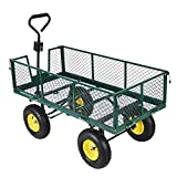 Heavy Duty Garden Trolley Carrello 4 Wheel Barrow Quad Trailer