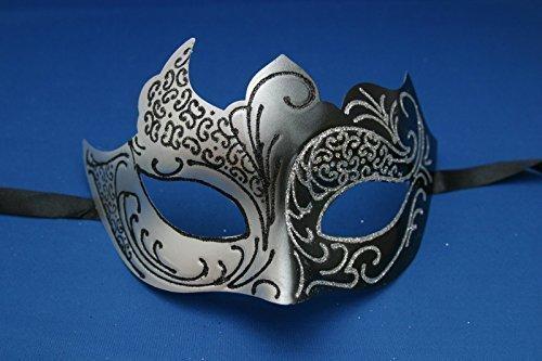 the-good-life-maschera-veneziana-per-carnevale-feste-unisex-colore-nero-argento