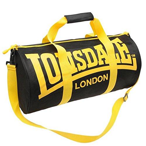 Lonsdale - Bolsa de deporte multideportiva, negro and amarillo