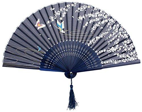 Hosaire Plegable Abanico de Tela y Bambú de Estilo Japones de Color...