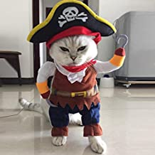 Bonjouree Costumes Halloween Chien Chat Petit Vêtements Cosplay Pirate ... 8cecd3e7417