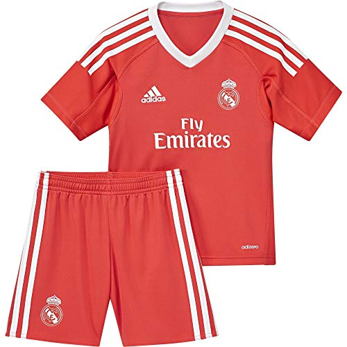 00ad0ef8725a7 adidas B31086 Ensemble Performance Mini kit Real Madrid Extérieur, mixte  enfant, Rouge (Rojbri/Bianco), 98 (Taille Fabricant :2/3 ans)