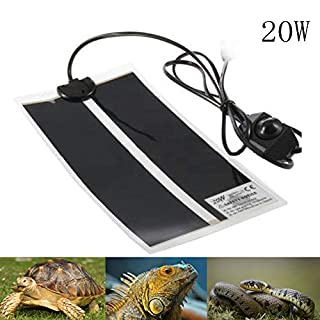 AUOKER Reptile Heat Mats, 20W Adjustable Reptile Heat Pad with Temperature Control for Reptiles Turtle, Tortoise, Snakes, Lizard, Gecko, Spider, Crawler - Safety Aquarium Tortoise Heat Mat Thermostat