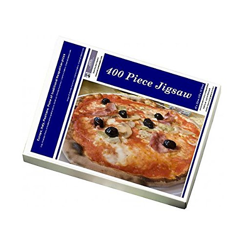 Media Storehouse 400 Piece Puzzle of Europe, Italy, Positano. Plate of traditional Neapolitan pizza (13939474)