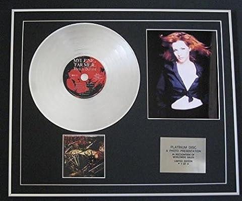 MYLENE Farmer–CD Platine disque + Photo–Points de suture