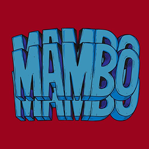 Mambo Triple Womens Hooded Sweatshirt Cherry Red