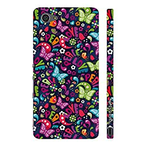 Sony Xperia Z5 Compact Love Peace N Butterflies designer mobile hard shell case by Enthopia