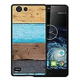Elephone S2 Hülle, WoowCase Handyhülle Silikon für [ Elephone S2 ] Holzwand Handytasche Handy Cover Case Schutzhülle Flexible TPU - Schwarz