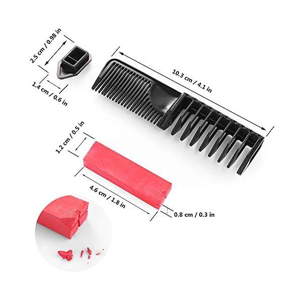 Peines de Tiza de Colores para el Pelo 10 colores temporales de cabello Tinte no tóxico Color de Tiza para niñas y niños…