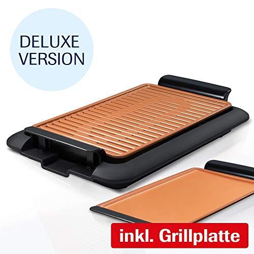 Mediashop Livington Smokeless Grill XL Deluxe Tischgrill rauchfrei Indoor Griller BBQ inkl. Grillrost Fettauffangschale | Das Original aus dem TV
