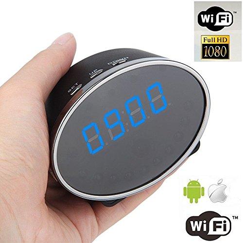 Mengshen® 1080P WIFI cámara espía reloj de escritorio Estilo Movimiento activado cámara inalámbrica con visión nocturna para Android IOS videocámara DVR MS-WH20