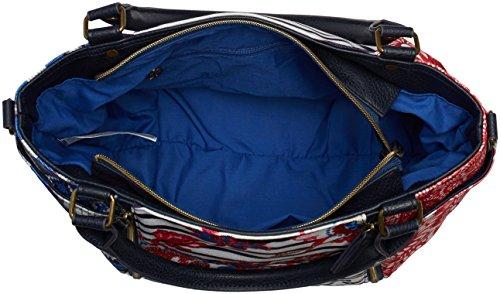 Desigual Sevilla Kimera 61X50F35116U Damen Schultertaschen 22x29x15 cm (B x H x T) Blau (AZUL MAZARINE 5116)