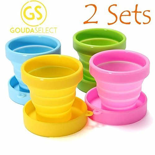 gouda-select-collapsible-silicone-cup-for-travel-camping-school-outdoor-8-cups-4-colors-by-gouda-sel