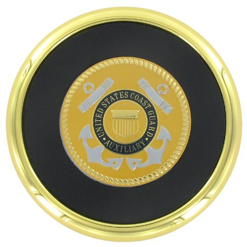 Coaster with 2 Inch U.S. Coast Guard Auxiliary Medallion Insert by Awards and Gifts R Us (Medallion-awards)