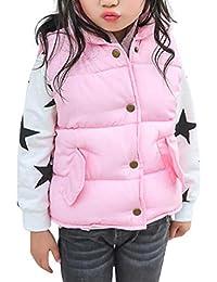 Vovotrade 2-8 Años Bebé Chicas Chicos Niños Niñas Grueso Calentar Chaleco Chaqueta Abrigo Otoño Invierno Ropa 4 Colores