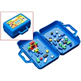 My Brick Case: Portable Storage For Kids Building Bricks With Play Surface For Storing And Building Bricks On-The-Go. Includes 50 Bricks. Travel Toy Case Compatible With Major Brands, Like Lego Bricks