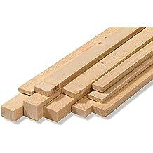 Listones para pared, en bruto, de madera de abeto, medidas: 2,