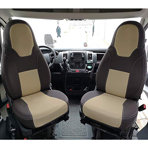 KFoam.es - Set di 2 coprisedili Premium per Camper e furgoni, per Fiat Ducato, Peugeot Boxer e Citroen Jumper (+2006)