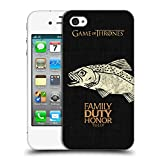 Official HBO Game of Thrones Tully House Mottos Hard Back Case for Apple iPhone 4 / 4S