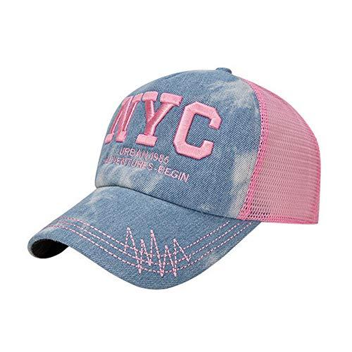 LZX Schnelltrocknende Sonnencreme-Mütze hat einen modischen Trend-Trend Baseballkappe UV-Schutz Sonnencreme im Freien,Pink