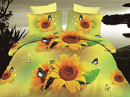Dexim 3D Print Double Polysatin Bed Sheet With Two Pillow Cover Set (Orange)  available at amazon for Rs.899