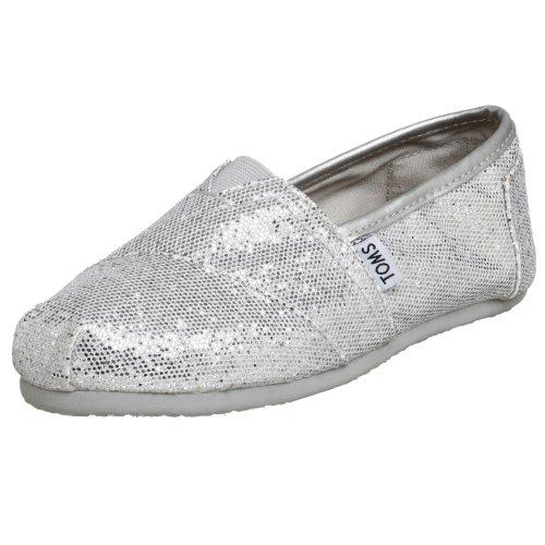 1013B07, Damen Espadrille Halbschuhe, Silber (SILV), EU 37 (US 6.5) (Silber Glitter Stiefel)