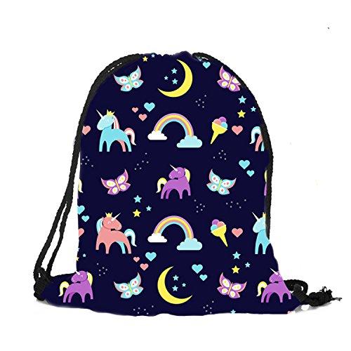 Auony Bolsa de gimnasio con cordón, diseño de flamencos con cordón, mochila para gimnasio, escuela, viaje, hombro, mochila para deportes y viajes, Flamingos