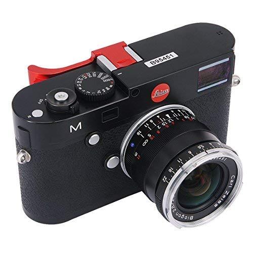 haoge thb-m24r Metall Hot Schuh Daumen bis Rest Hand Griff für Leica M Typ240M240, m-p Typ 240m240p, M type262M262, m-d Typ 262Kamera Rot