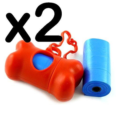 sacchetti e Dog Poop Dispenser con pratico Clip, 2 pezzi