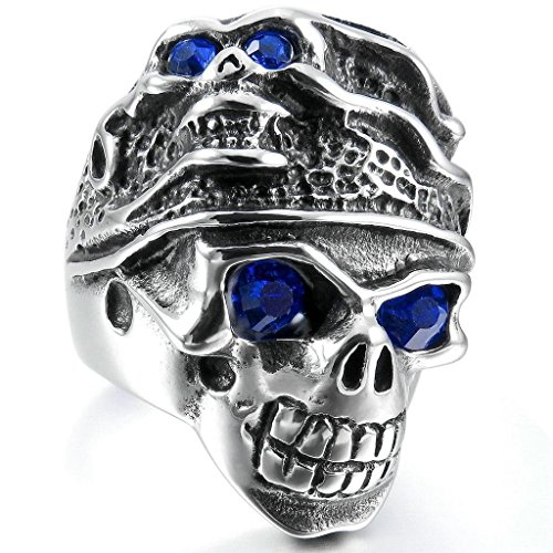 epinkifashion-jewelry-mens-large-stainless-steel-rings-band-silver-blue-skull-gothic-tribal-biker