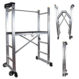 Abbey Folding Scaffold Platform Ladder 1m Platform height EN 131
