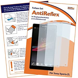 2 x mumbi Displayschutzfolie Sony Xperia ZL Schutzfolie AntiReflex antireflektierend