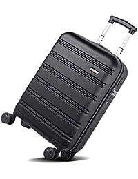"""REYLEO Maleta Cabina Rígida 20"""" Equipaje de Mano con Puerto de Carga USB, Candado TSA, 4 Ruedas Silenciosas, LUG20A - (55 X 35 X 20CM - 31.5L)"""